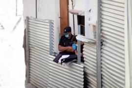 Las mejores imágenes del operativo antidroga en sa Penya. (Fotos: Daniel Espinosa)