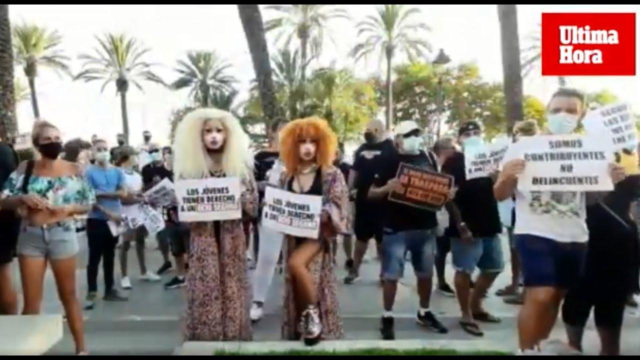 Más protestas del sector del ocio nocturno contra Armengol