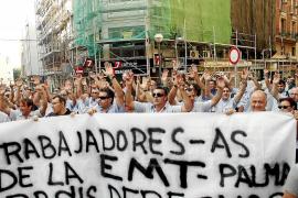 Los trabajadores exigen el compromiso de Isern para cancelar la huelga de la EMT