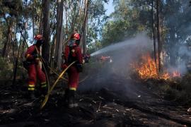 Un fallecido y dos heridos al estrellarse un hidroavión que trabajaba en el incendio de Ourense