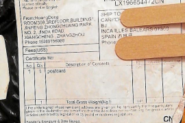 El misterioso paquete procedente de China que recibió una vecina de Inca