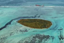 El vertido de la isla Mauricio ha provocado una mancha de 1.000 toneladas de combustible