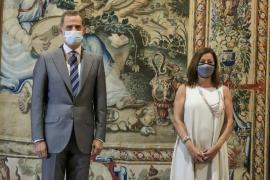 Las autoridades de Baleares eluden hablar de don Juan Carlos en la audiencia con el Rey
