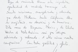 El mensaje de los Reyes en el libro de visitas de la casa museo de Fra Juníper