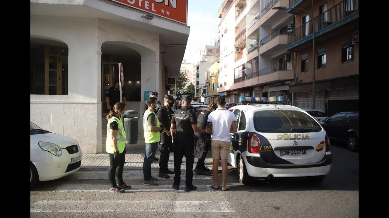 Gran operación policial contra un grupo internacional de carteristas en Palma