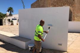 Vandalismo en Formentera: Investigan pintadas en puntos emblemáticos