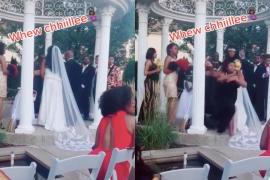 Una mujer irrumpe en la boda de su amante al grito de «¡Aquí está tu bebé!»