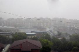 Una fuerte tormenta descarga en Madrid en pleno agosto