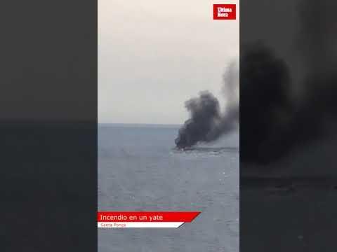 Salvan a los ocupantes de una embarcación en llamas en Calvià