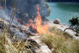 Extinguido el incendio de la serra de Tramuntana