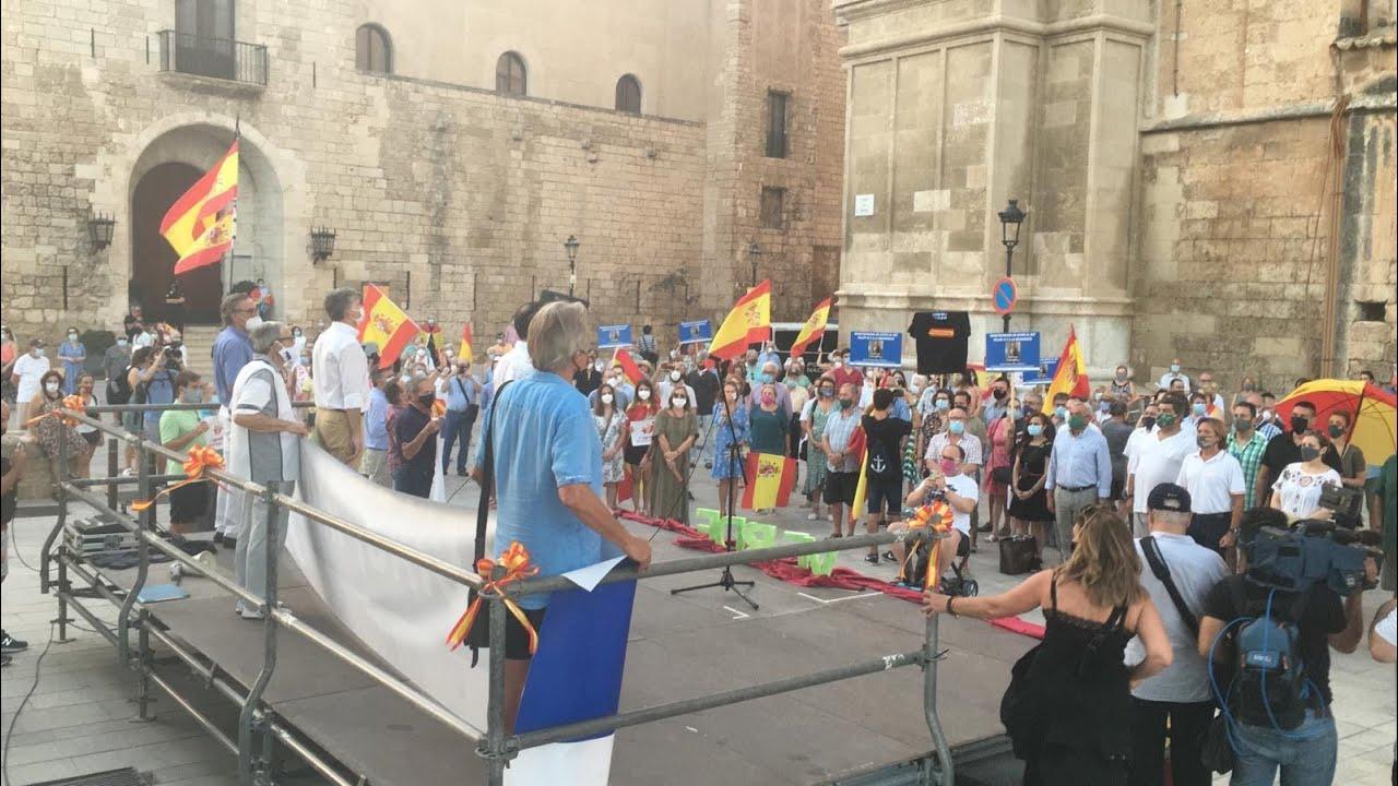 Unas 200 personas se concentran en Palma para apoyar a los Reyes