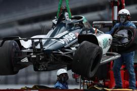 Fernando Alonso se estrella al final de los segundos entrenamientos de las 500 millas de Indianápolis