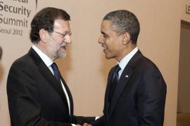 Rajoy habla con Obama durante «media hora» sobre la situación de España y la UE