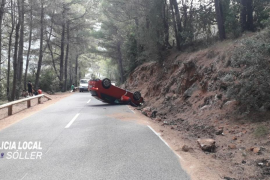Accidente en la carretera del Puig Major