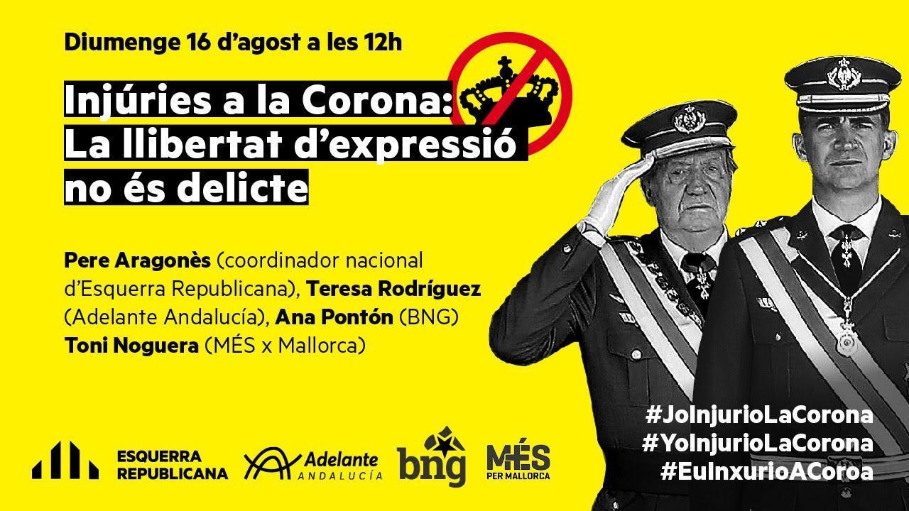 Més responde con solidaridad a la denuncia de la «extrema derecha monárquica»