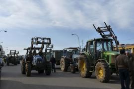 Tractorada en sa Pobla para exigir al Govern las ayudas pendientes