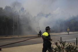 Alarma por un incendio en un solar en primera línea de la Platja de Palma