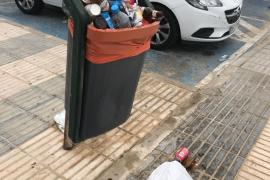 Quejas por la acumulación de basura en Palma