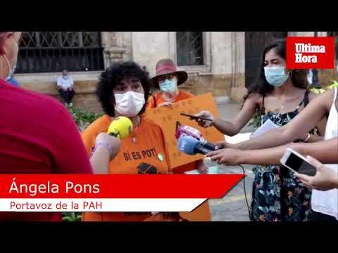 La PAH protesta en Palma contra dos desahucios