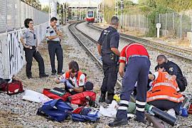 Muere el joven de 16 años arrollado por el tren en el paso a nivel de Son Fuster, en Palma