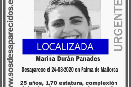 Localizada la joven desaparecida en Palma