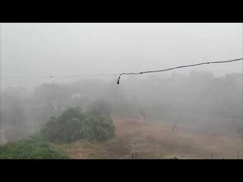 Viento, lluvia y granizo en el último fin de semana de agosto