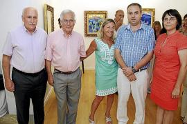 Inauguración de una exposición de Carles en la Fundació Coll Bardolet