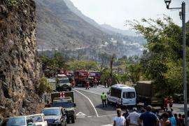 Una cuarta parte de la población de La Gomera, desalojada por el incendio