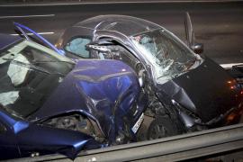 Tres heridos en un choque en la autovía de Llucmajor