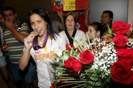 Brigit Yagüe llega a Palma tras ganar una medalla de plata en los Juegos Olímpicos