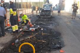 Incendio en Palma: Arden contenedores y un coche en el Molinar