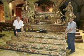 Los hermanos Arcas guardan la memoria del 'llit' barroco de la Concepció