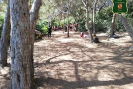 Denuncia por acampar al aire libre en Cala Varques (Manacor)