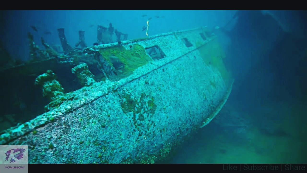 El fantasmagórico aspecto de un buque de guerra nazi hundido frente a las costas de Noruega