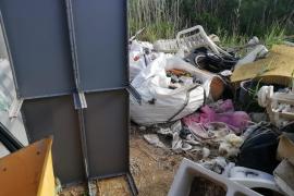 La acumulación de basura en Ses Feixes, en imágenes. (Fotos: Marcelo Sastre)