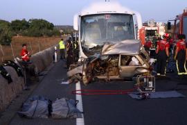 Dos muertos en un accidente de tráfico en la carretera Manacor-Porto Cristo