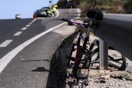Muere un ciclista atropellado por un coche en la carretera de Porto Cristo a Manacor