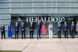 Los reyes presiden la conmemoración del 125º aniversario del diario Heraldo de Aragón.