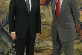 El Rey recibe a Rajoy en la Zarzuela