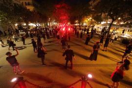 Las mejores imágenes de la protesta de los músicos en Ibiza.