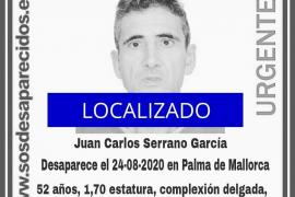 Localizado un hombre desaparecido desde el 24 de agosto en Palma