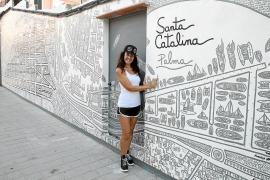Santa Catalina, en un mural
