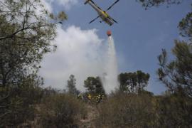 Un incendio forestal en Cala Fornells quema 0,9 hectáreas de pinar