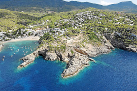 Vista aérea de Cala Vedella