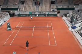Nadal ya entrena en Roland Garros