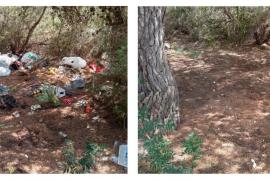 La Policía de Sant Antoni localiza nuevas zonas de residuos y asentamientos ilegales en sa Talaia