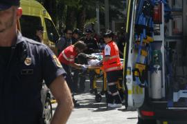 Un policía dispara en una pierna a un hombre que intentó apuñalarle en el centro de Palma