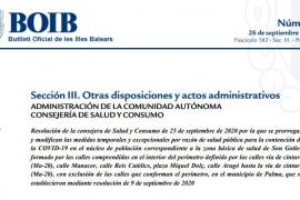 El BOIB publica la actualización de las restricciones en Son Gotleu y Arquitecte Bennàssar