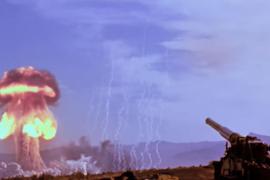 El impactante vídeo de la única prueba conocida de un cañón nuclear