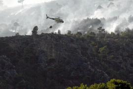 Estabilizado el incendio de Costa d'en Blanes con 69 hectáreas forestales calcinadas